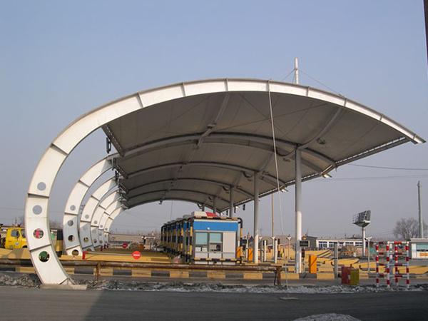 高速收费站膜结构