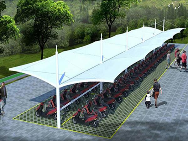 膜结构充电站车棚