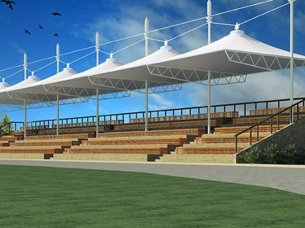 拱帽式膜结构看台