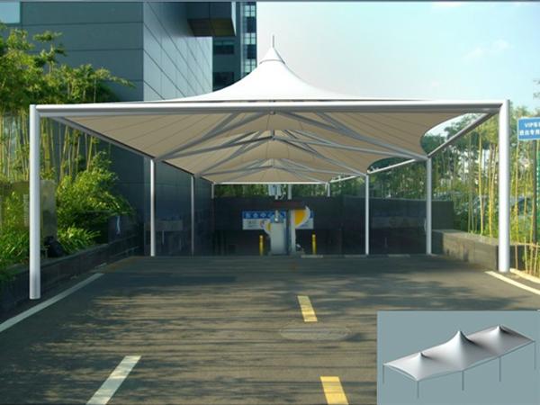 停车场膜结构出入口