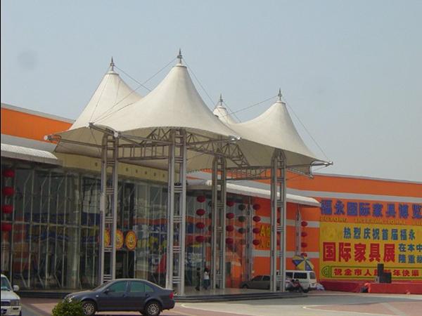 商场膜结构出入口
