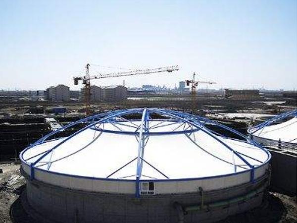 医疗污水池膜结构罩棚